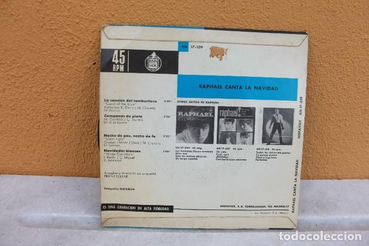 Discos de vinilo: Vinilo sencillo, Raphael canta a la Navidad - Foto 2 - 175617404