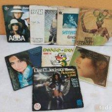 Discos de vinilo: LOTE DE 8 SINGLES 60-70; ABBA, R. PALMER, T, CHARLES.... Lote 138778170
