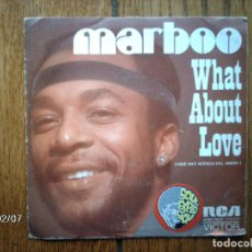 Discos de vinilo: MARBOO - WHAT ABOUT LOVE + I REMEMBER SUNDAY MORNING. Lote 138779106