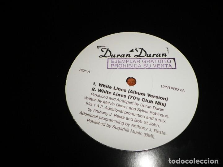 DURAN DURAN WHITE LINES MAXI SINGLE VINILO PROMO DEL AÑO 1995 ESPAÑA CONTIENE 4 TEMAS (Música - Discos de Vinilo - Maxi Singles - Pop - Rock Internacional de los 90 a la actualidad)
