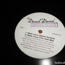Discos de vinilo: DURAN DURAN WHITE LINES MAXI SINGLE VINILO PROMO DEL AÑO 1995 ESPAÑA CONTIENE 4 TEMAS. Lote 138787530