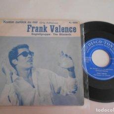 Discos de vinilo: FRANK VALENCE-EP KOMM ZURUCK ZU MIR. Lote 138798566