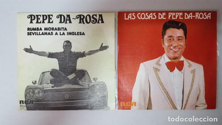 SINGLE / PEPE DA-ROSA / LOTE DE 2 SINGLES (Música - Discos - Singles Vinilo - Solistas Españoles de los 70 a la actualidad)