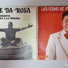Discos de vinilo: SINGLE / PEPE DA-ROSA / LOTE DE 2 SINGLES. Lote 138831814