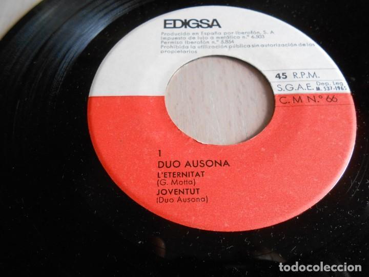 Discos de vinilo: DUO AUSONA, EP, L´ETERNITAT + 3, AÑO 1965 - Foto 4 - 138852762
