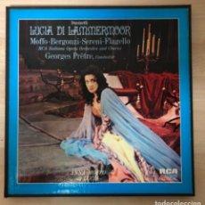Discos de vinilo: DONIZETI. LUCIA DI LAMMERMOOR RCA ITALIANA OPERA ORCHESTRA AND CHORUS GEORGES PRETRE. Lote 138857578