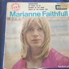 Discos de vinilo: MARIANNE FAITHFULL * GREENSLEEVES*AS TEARS GO BY*BLOWIN' IN THE WIND*HOUSE OF THE RISING SUN* 1964. Lote 138857634
