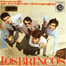 Discos de vinilo: LOS BRINCOS ?– RENACERÁ / UN SORBITO DE CHAMPAGNE / GIULIETTA / TU EN MI - EP NOVOLA 1966. Lote 138860210