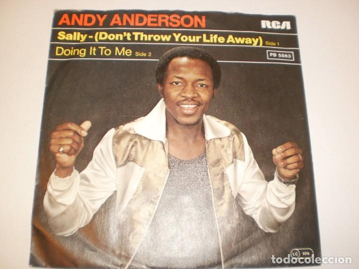 SINGLE ANDY ANDERSON. SALLY. DOING IT TO ME. RCA 1978 GERMANY (DISCO PROBADO Y BIEN, SEMINUEVO) (Música - Discos - Singles Vinilo - Pop - Rock - Extranjero de los 70)