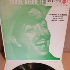 Discos de vinilo: JORGE NEGRETE / EL AHIJADO DE LA MUERTE / EP - RCA-VICTOR-1962 / MBC. ***/***. Lote 138875094