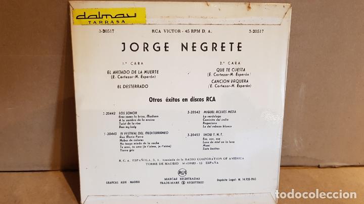 Discos de vinilo: JORGE NEGRETE / EL AHIJADO DE LA MUERTE / EP - RCA-VICTOR-1962 / MBC. ***/*** - Foto 2 - 138875094