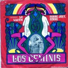 Discos de vinilo: LOS GEMINIS / LA LLUVIA / CORRE JOEY, CORRE (SINGLE 1969). Lote 138928614