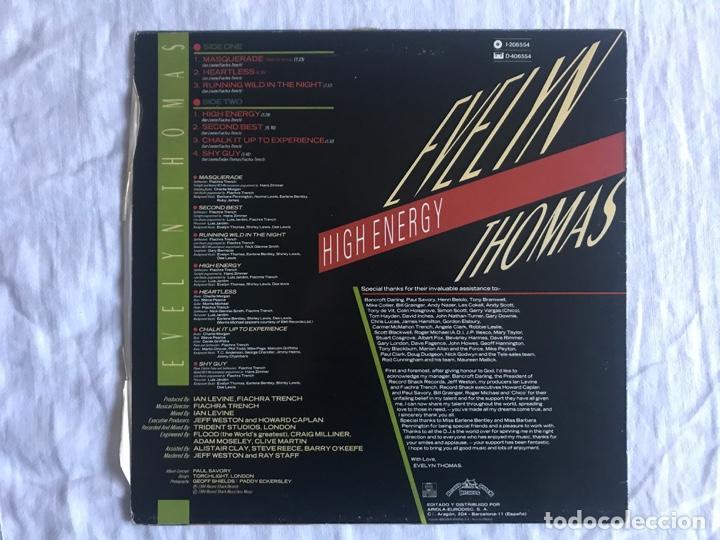 Discos de vinilo: Evelyn Thomas – High Energy Sello: Ariola – I-206.554 Formato: Vinyl, LP, Album País: Spain - Foto 2 - 138929230
