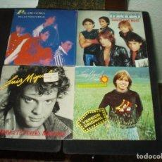 Discos de vinilo: LOTE 4 SINGLES LUIS MIGUEL MENUDO PATO DE GOMA (NIÑOS). Lote 138931694