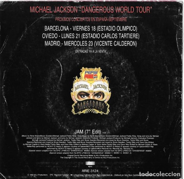 Discos de vinilo: MICHAEL JACKSON. JAM. SINGLE PROMOCIONAL. - Foto 2 - 46529210