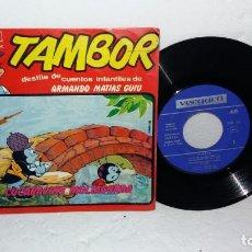 Discos de vinilo: TAMBOR CUENTO INFANTIL EP SINGLE DE VINILO CUCARACHIN MULTAGORDA. Lote 138946902