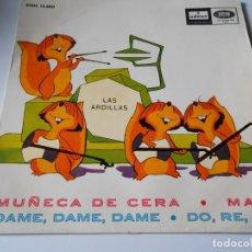 Discos de vinilo: ARDILLAS, LAS, EP, MUÑECA DE CERA + 3, AÑO 1965. Lote 138957522
