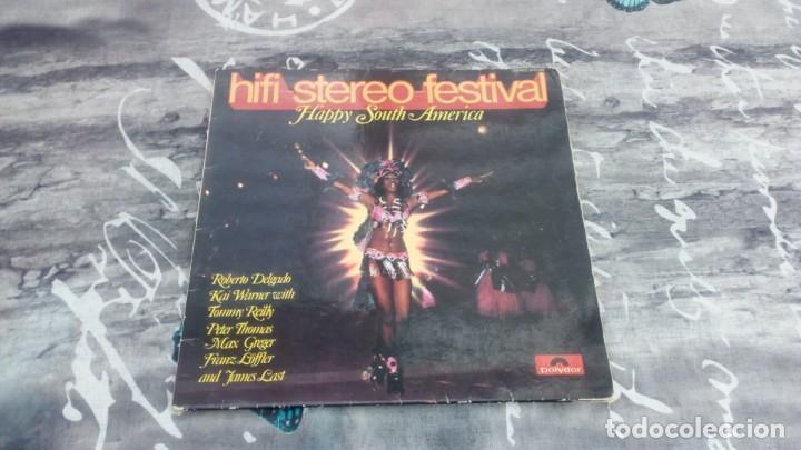 VARIOUS – HIFI-STEREO-FESTIVAL - HAPPY SOUTH-AMERICA - POLYDOR – 2418 008 - 1970 (Música - Discos - LP Vinilo - Grupos y Solistas de latinoamérica)