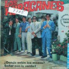 Discos de vinilo: LOS HURACANES / ¿DONDE ESTAN LOS MOZOS? (XI FESTIVAL BENIDORM) + 1 (SINGLE 1969). Lote 139017594