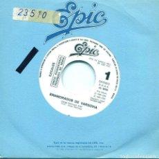 Discos de vinilo: ILEGALES / ENAMORADOS DE VARSOVIA (SINGLE PROMO 1986) SOLO CARA A. Lote 139019370