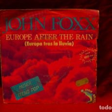 Discos de vinilo: JOHN FOXX -- EUROPE AFTER THE RAIN / DANCING LIKE A GUN, VIRGINS, 1982.. Lote 139025266