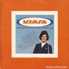 Discos de vinilo: EP-VIASA VENEZUELA INTERNATIONAL AIRWAYS MUSICA VENEZOLANA AÑOS 60 GATEFOLD. Lote 139031386