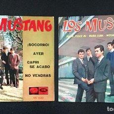 Discos de vinilo: LOS MUSTANG - DOS EPS- VERSIONES BEATLES - 1964. Lote 139034950