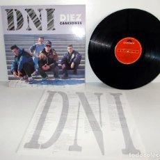 Discos de vinilo: D.N.I. - DIEZ CANCIONES - LP POLYDOR 511947-1 ESPAÑA 1992 LP: G+ CARPETA: VG++. Lote 139041970