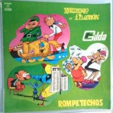 Discos de vinilo: MORTADELO Y FILEMON . ROMPETECHOS. LAS HERMANAS GILDA / LP CON TEBEO 33 RPM / 1971. Lote 139044538