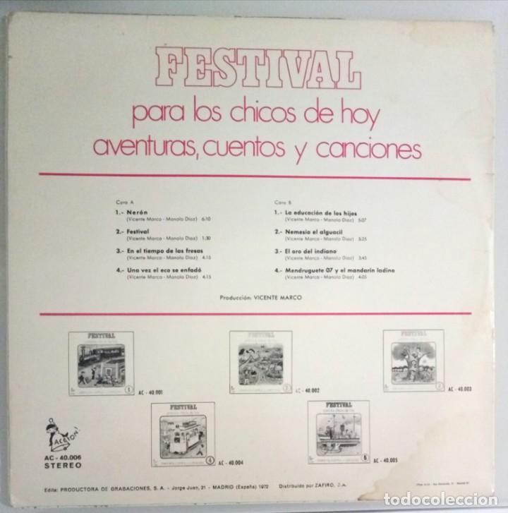 Discos de vinilo: FESTIVAL PARA LOS CHICOS DE HOY Nº 6 / LP / ESPAÑA 1972 - Foto 2 - 139049546
