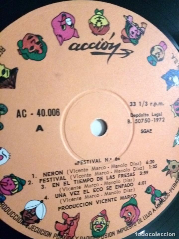Discos de vinilo: FESTIVAL PARA LOS CHICOS DE HOY Nº 6 / LP / ESPAÑA 1972 - Foto 4 - 139049546
