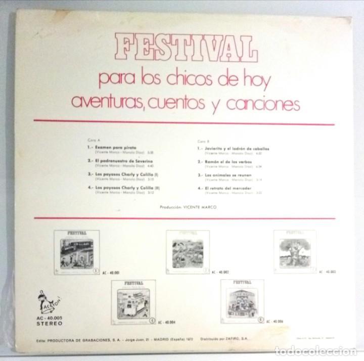 Discos de vinilo: FESTIVAL PARA LOS CHICOS DE HOY Nº5 / LP / ESPAÑA 1972 - Foto 2 - 139050722