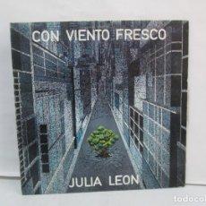 Discos de vinilo: CON VIENTO FRESCO. JULIA LEON. DISCOGRAFICA EMI ODEON. 1975. LP VINILO. VER FOTOGRAFIAS ADJUNTAS. Lote 139057590