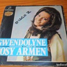Discos de vinilo: ROSY ARMEN- GWENDOLYNE, EUROVISION 1970-+ PASTERNAK -. Lote 139071570