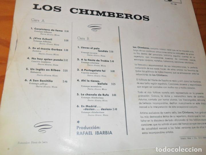 Discos de vinilo: LOS CHIMBEROS - LP 1967 - Foto 2 - 139074746