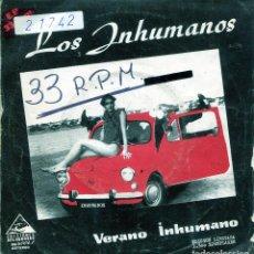 Discos de vinilo: LOS INHUMANOS / VERANO INHUMANO / MUJER CANIBAL / LADY DI (SINGLE PROMO VINILO ROSA 1983). Lote 139076386