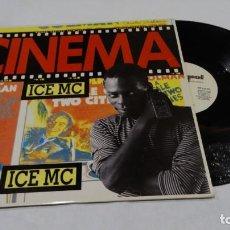 Discos de vinilo: LP MAXI SINGLE VINILO ICE MC CINEMA. Lote 139088702