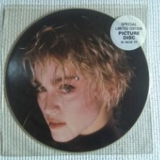Discos de vinilo: MADONNA - '' PAPA DON'T PREACH + 2 '' MAXI SINGLE 12'' PICTURE DISC LIMITED EDITION 1986 UK. Lote 139089342