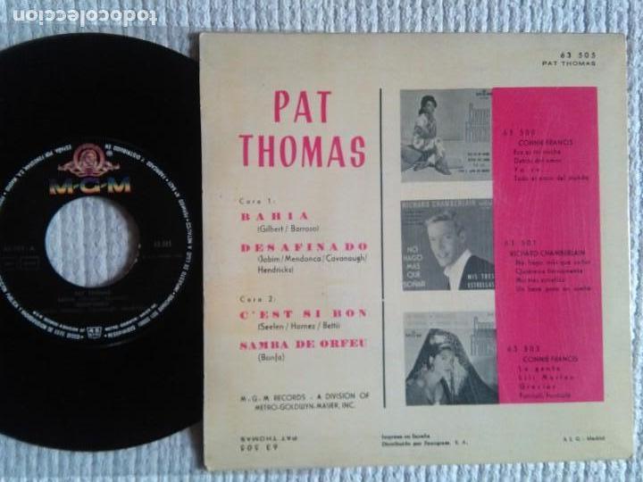 Discos de vinilo: PAT THOMAS - BAHIA + 3 EP 7 SPAIN 1963 - Foto 2 - 139095014