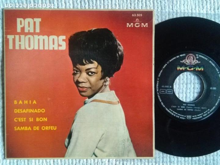 PAT THOMAS - '' BAHIA + 3 '' EP 7'' SPAIN 1963 (Música - Discos de Vinilo - EPs - Jazz, Jazz-Rock, Blues y R&B)