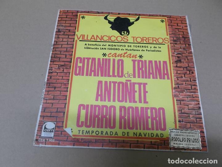 GITANILLO DE TRIANA, ANTOÑETE Y CURRO ROMERO (SN) VILLANCICOS GITANOS AÑO 1967 (Música - Discos - Singles Vinilo - Flamenco, Canción española y Cuplé)