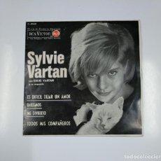 Discos de vinilo: SYLVIE VARTAN CON EDDIE VARTAN Y SU ORQUESTA. - ES DIFICIL DEJAR UN AMOR. TDKDS11. Lote 139106222