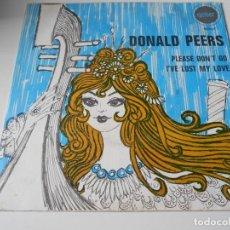 Discos de vinilo: DONALD PEERS, SG, PLEASE DON´T GO + 1, AÑO 1969. Lote 139121674