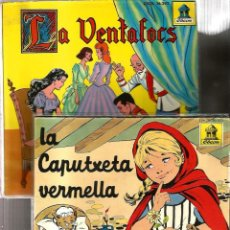 Discos de vinil: 2 DISCO CUENTOS : LA CAPUTXETA VERMELLA + LA VENTAFOCS (DEL SELLO ODEON, . Lote 139122438