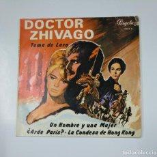 Discos de vinilo: DOCTOR ZHIVAGO TEMA DE LARA. UN HOMBRE Y UNA MUJER. ¿ARDE PARIS?. LA CONDESA DE HONG KONG. TDKDS11. Lote 139128558
