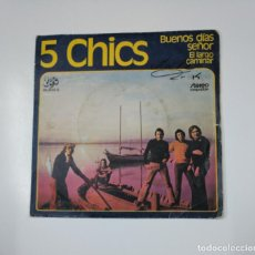 Discos de vinilo: 5 CHICS. - BUENOS DÍAS SEÑOR / EL LARGO CAMINAR. TDKDS11. Lote 139128702