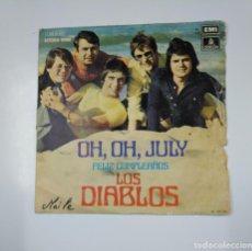 Discos de vinilo: LOS DIABLOS. FELIZ CUMPLEAÑOS, OH, OH, JULY. SINGLE. TDKDS11. Lote 139128846