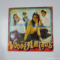 Discos de vinilo: VOCES AMIGAS. - CANTA CON NOSOTROS. SUENA UN RELOJ. SINGLE. TDKDS11. Lote 139129006