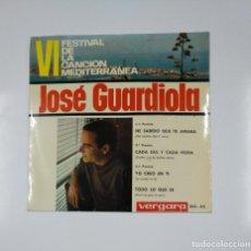 Discos de vinilo: JOSE GUARDIOLA - VI FESTIVAL DE. LA CANCION MEDITERRANEA. HE SABIDO QUE TE AMABA. TDKDS11. Lote 139129446