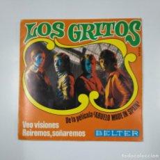 Discos de vinilo: LOS GRITOS. - VEO VISIONES - REIREMOS, SOÑAREMOS. 1969 DE LA PELICULA ABUELO MADE IN SPAIN. TDKDS11. Lote 148347545
